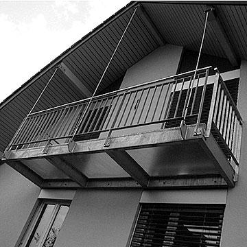 balkonanbau bei efh. Black Bedroom Furniture Sets. Home Design Ideas
